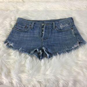 Levi's 501 Shorts Cut off Distressd Frayed